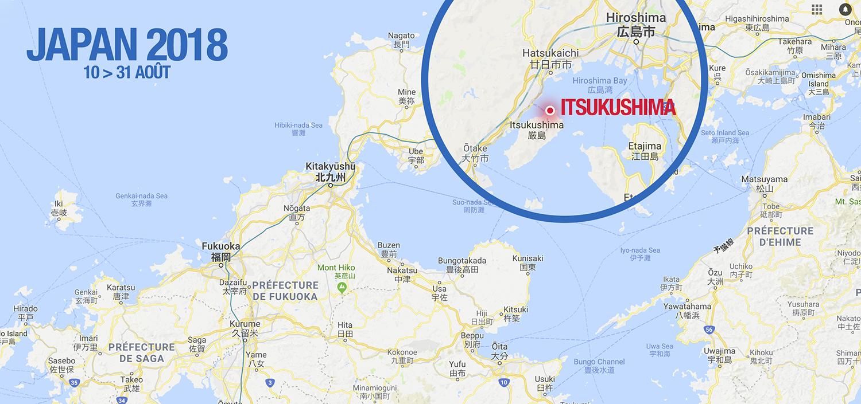 mon itinéraire au japon 2018